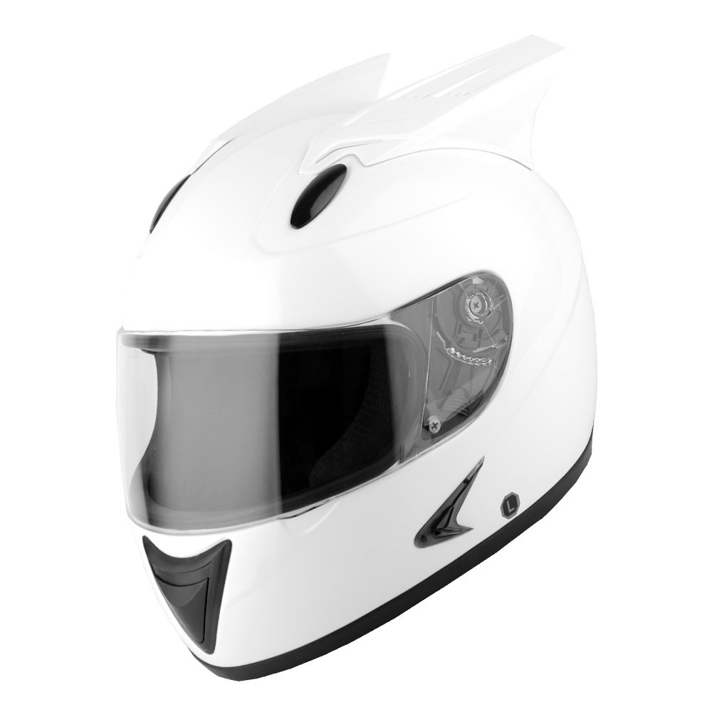 1STORM MOTORCYCLE BIKE FULL FACE HELMET MECHANIC GLOSSY White