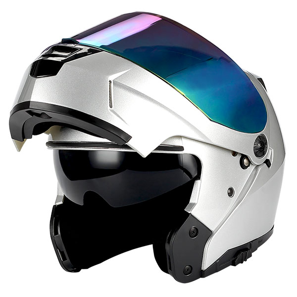 37912d43 1Storm Motorcycle Modular Full Face Helmet Flip up Dual Shield Sun ...