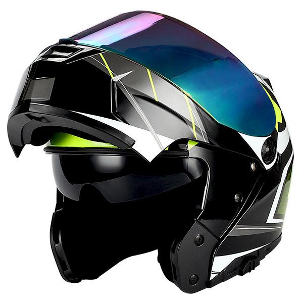 6b5ec025 1Storm Motorcycle Modular Full Face Helmet Flip up Dual Shield Sun ...