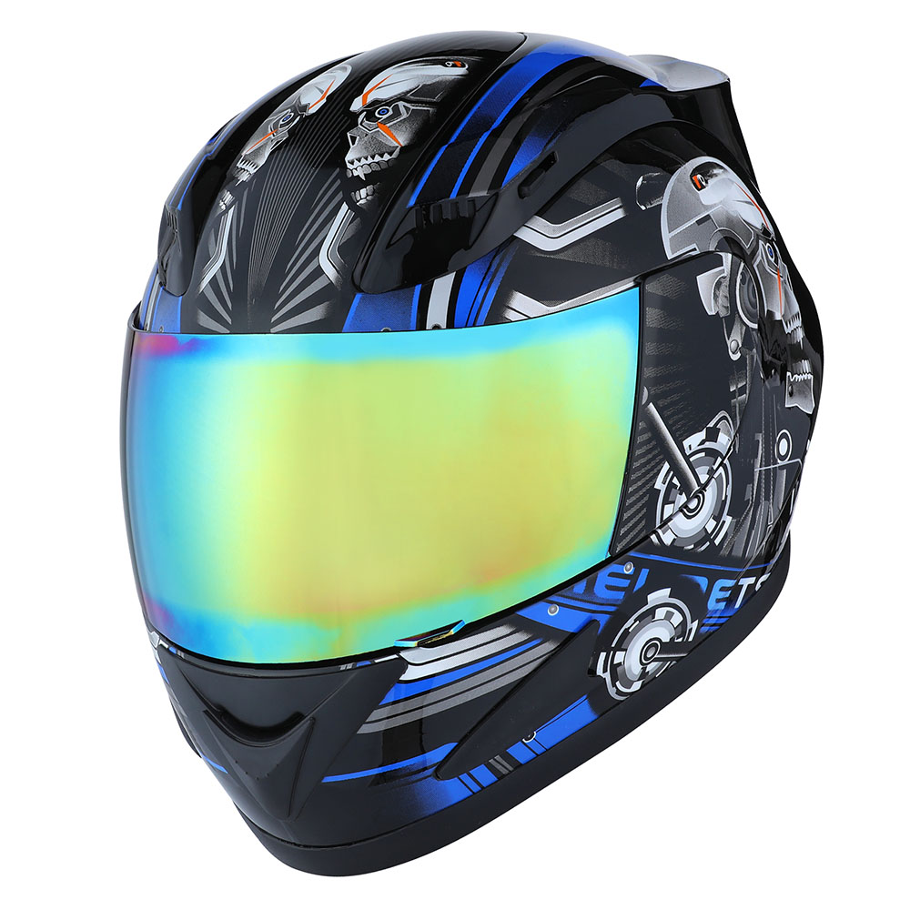 New 1storm Dot Motorcycle Street Bike Full Face Helmet