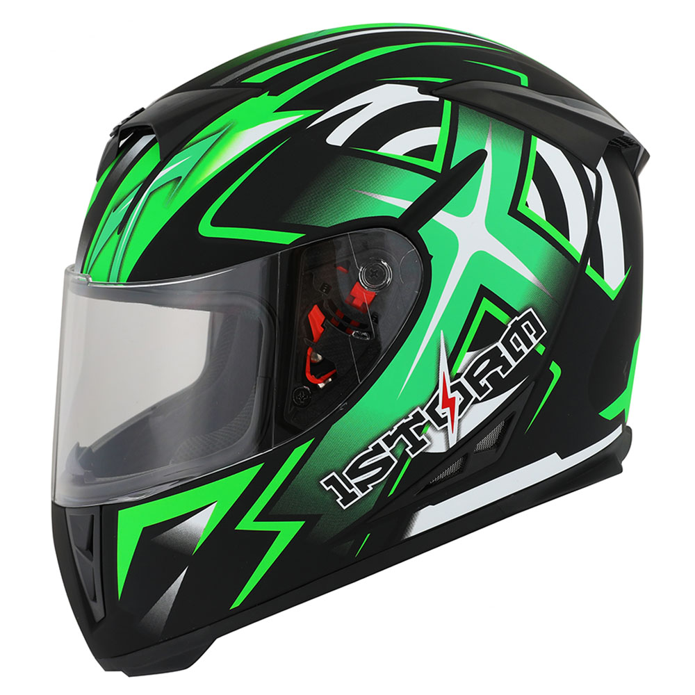 New 1Storm Adult Motorcycle Full Face Helmet Skull King + One Extra Clear Shield