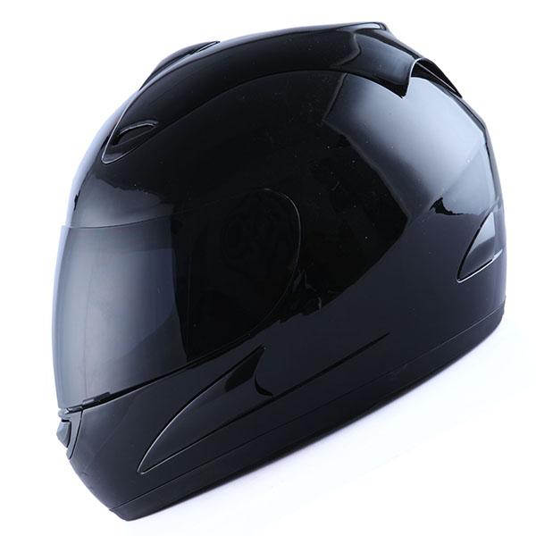 NEW Motorcycle Street Bike Adult Full Face Helmet Matte Matt Black Size S M L XL