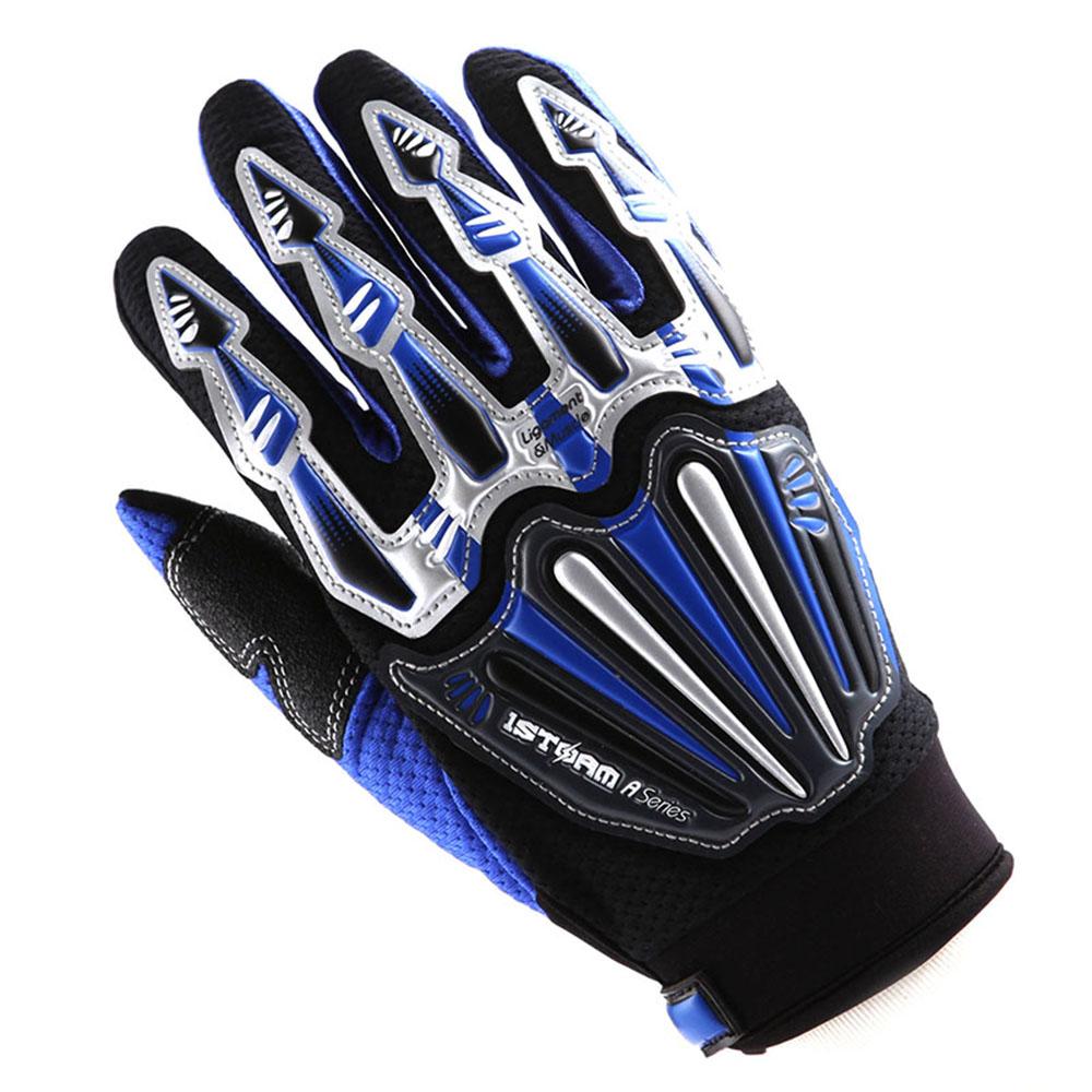 MORPH Racing White Blue XL gloves motocross mx atv dirt bike mtb moto bmx